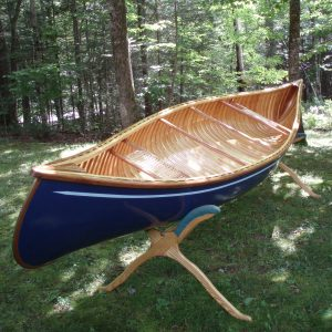 The accent paint design and the wood outside stems personalizes the boat.